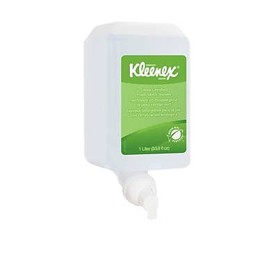 Kleenex® Green Certified Foam Skin Cleanser, 1000 ml Cassette, 6/Pack