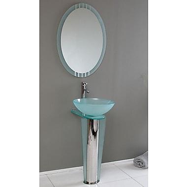 Fresca Vetro 17'' Single Vitale Modern Bathroom Vanity Set w/ Mirror
