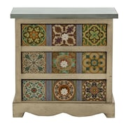Woodland Imports 3 Drawer Gorgeous Canvas Table Chest