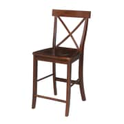 International Concepts Dining Essentials 24'' Bar Stool; Black/Cherry