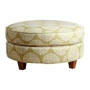 Abbyson Living Fabric Round Ottoman; Moss