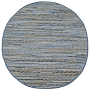 St. Croix Earth First Blue Jeans Handcrafted Area Rug; Round 8'