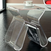 Modway Magazine End Table; Clear
