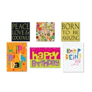 "Viabella Traditional Birthday Assortment, Birthday, 5"" x 7"", 6/Pack"