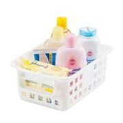 IRIS® Small Mesh Basket, White, 8 Pack (109001)