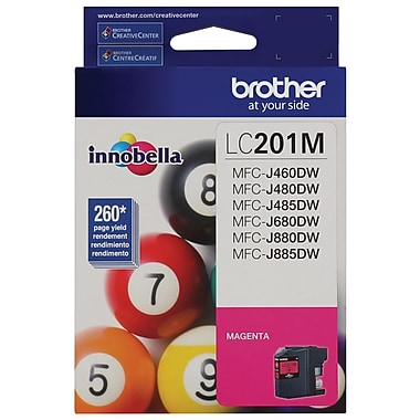 Brother LC201MS High Yield Ink Cartridge, Magenta