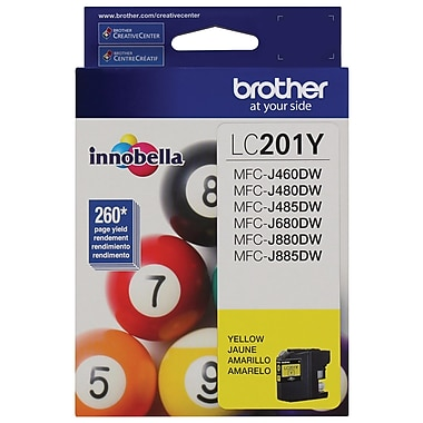 Brother LC201YS High Yield Ink Cartridge, Yellow