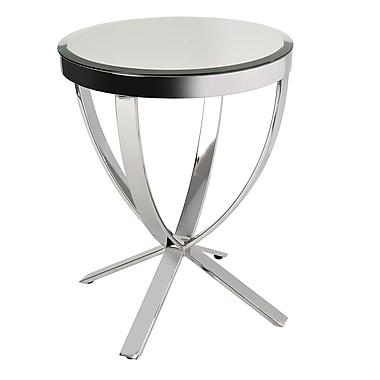 BH Boutique Hotel – Table d'appoint miroitante Plato avec base en acier inoxydable lustré