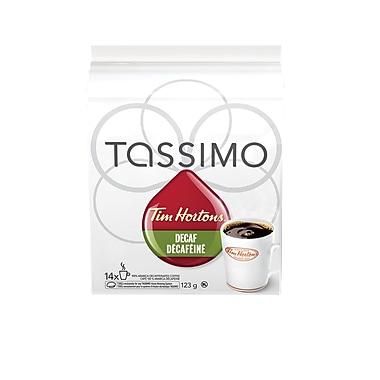 Capsules de café décaféiné T-Disc Tim Hortons, paq./14