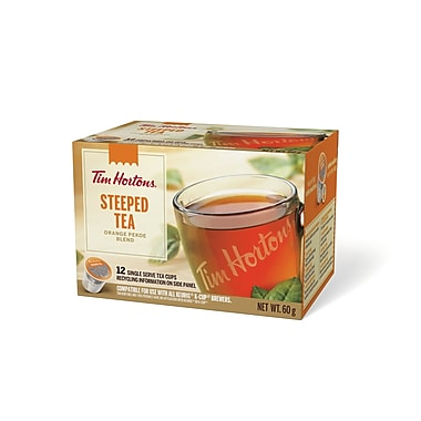 Tim Hortons - Dosettes à usage unique, Thé infusé Orange Pekoe, paq./12