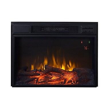 Flamelux – Foyer électrique encastrable Clova23Ge de 23 po, noir