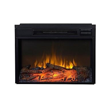 Flamelux – Foyer électrique encastrable Clova23 de 23 po, noir