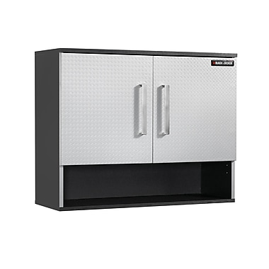 Black & Decker® Open Shelf 2-Door Wall Cabinet, Charcoal Stipple