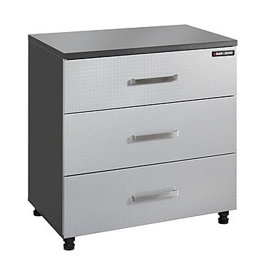 Black & Decker® – Armoire de base à 3 tiroirs, pointillé charbon