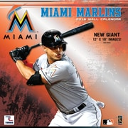 Miami Marlins 2016 12X12 Team Wall Calendar