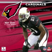 Arizona Cardinals 2016 12X12 Team Wall Calendar