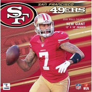 San Francisco 49ers 2016 12X12 Team Wall Calendar