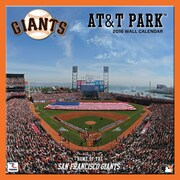 San Francisco Giants At&T Park 2016 12X12 Wall Calendar