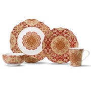 222 Fifth Lyria 16 Piece Dinnerware Set; Saffron
