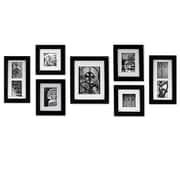 NielsenBainbridge Gallery Perfect 7 Piece Create a Gallery Picture Frame Set; Black