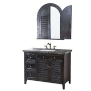 Crawford & Burke Cornelia 44'' Bathroom Vanity Set with Mirror; Marble Dark Emperador