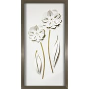 NielsenBainbridge Pinnacle Long Flower Duo Pop Of Color Framed Graphic Art