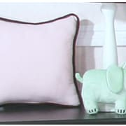 Brandee Danielle Blue Chocolate Minky Polka Dot Throw Pillow; Pink
