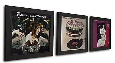 NielsenBainbridge Pinnacle 3 Piece Record Picture Frame Set; Black WYF078278039576