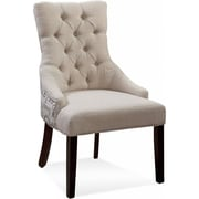 Bassett Mirror Fortnum Ceylan Tufted Nailhead Parson Side Chair