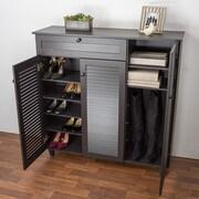 Wholesale Interiors Baxton Studio Pocillo 20-Pair Shoe Storage Cabinet