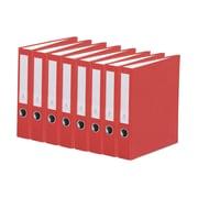 Bindertek 3-Ring 2-Inch Premium Binder 7-Pack, Red (3SLPACK-RD)