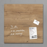 Sigel 19 x 19 Contemporary Magnetic Glass Board, Natural Wood (SGBOARD19-NW)