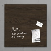 Sigel 19 x 19 Contemporary Magnetic Glass Board, Dark Wood (SGBOARD19-DW)