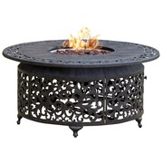 Paramount FP-251 Round Outdoor Propane Firepit Table Cast Aluminum
