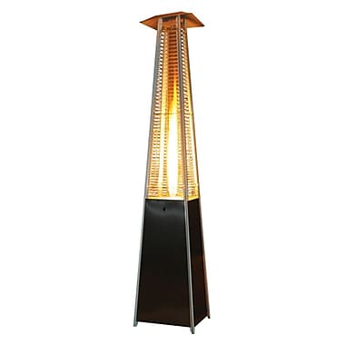 Paramount – Chaufferette de patio PH08-S BK genre flamme au propane 40 000 BTU, noir