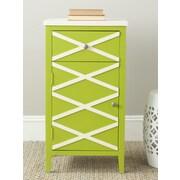 Safavieh Brandy 1 Door Cabinet; Green / White
