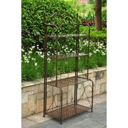 International Caravan Mandalay 4 Tier Indoor/Outdoor Bakers Rack; Bronze