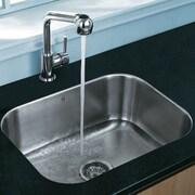 Vigo 23 inch Undermount Single Bowl 18 Gauge Stainless Steel Kitchen Sink; No