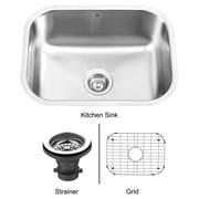 Vigo 23 inch Undermount Single Bowl 18 Gauge Stainless Steel Kitchen Sink; Yes