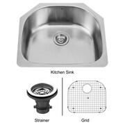 Vigo 24 inch Undermount Single Bowl 18 Gauge Stainless Steel Kitchen Sink; Yes