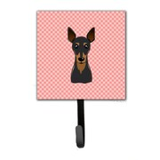 Caroline's Treasures Checkerboard Min Pin Leash Holder and Wall Hook