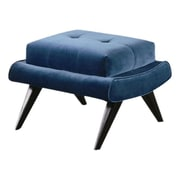 Armen Living 5th Avenue Ottoman; Cerulean Blue