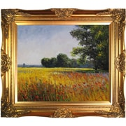 Tori Home Oat Fields by Monet Framed Hand Painted Oil on Canvas