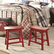 Kingstown Home Cosimo 18'' Bar Stool (Set of 2); Red