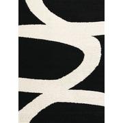 Kalora Maroq Black/White Area Rug; 3'11'' x 5'7''