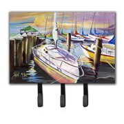 Caroline's Treasures Sailboats at The Fairhope Yacht Club Docks Leash Holder and Key Hook