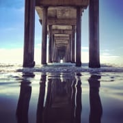 Elementem Photography Reflection Under the Pier by Dirka Photographic Print on Wrapped Canvas