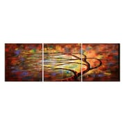 3 Panel Photo Branching Over 3 Piece Photographic Print on Wrapped Canvas Set