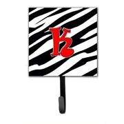 Caroline's Treasures Monogram Zebra Leash Holder and Wall Hook; K