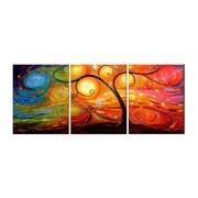 Elementem Photography Colorful Night 3 Piece Painting Print on Canvas Set